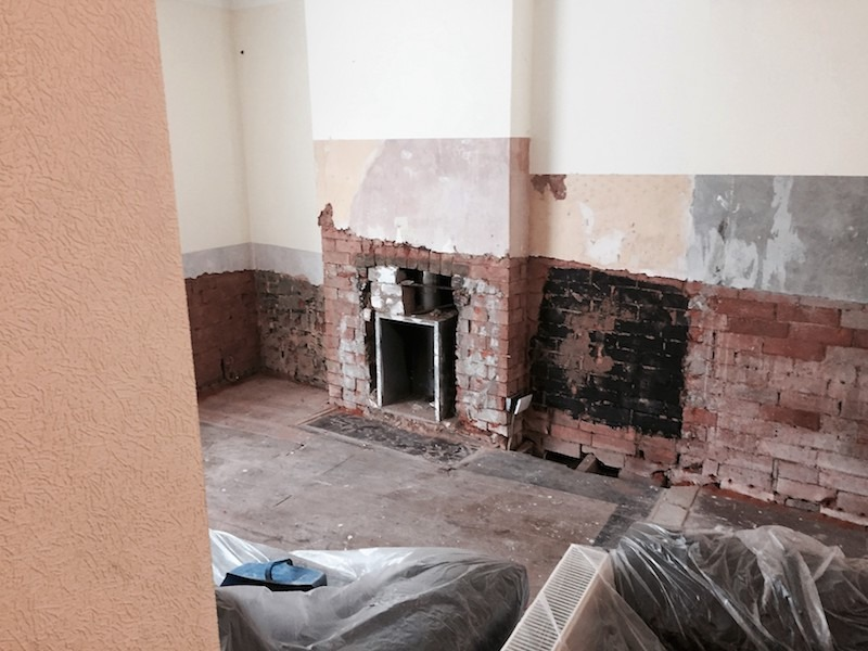 Damp Proofing - Before Image