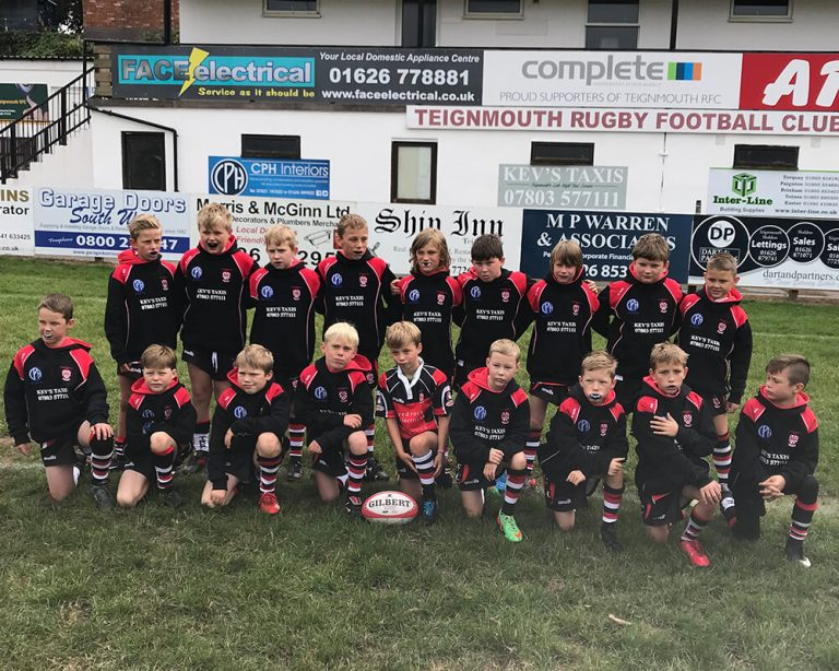 Teignmouth Rugby Club Under 11's Team sponsored by CPH Interiors